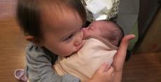 Vivian hugs Claire