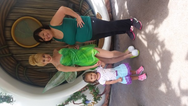 Hanging Out With Tinkerbell at Disneyland